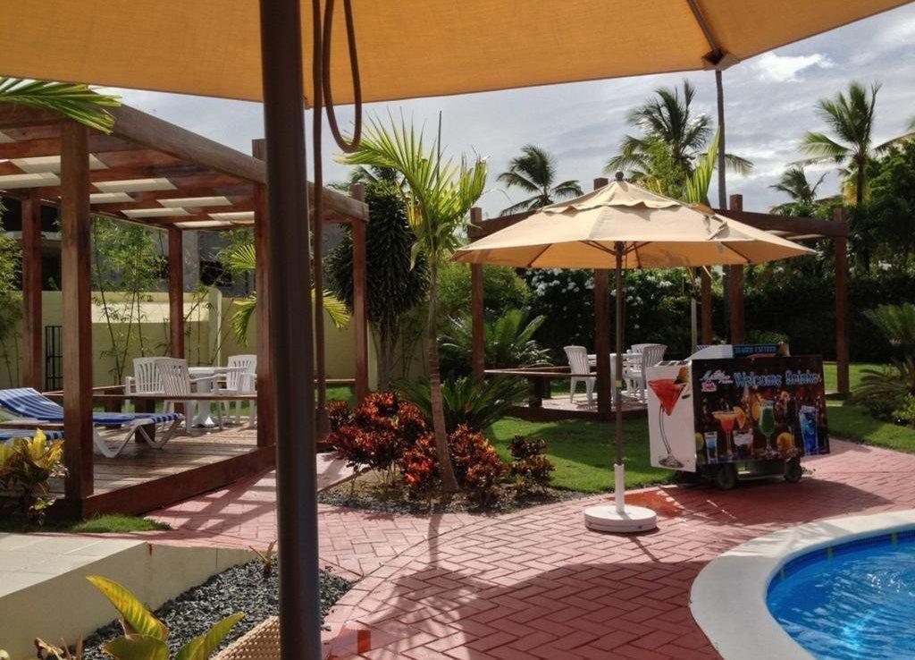 Hotel boutique en bávaro área de la piscina y el jardín