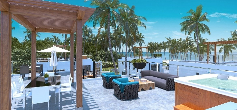 Blue Bay Villas & Lots - piscina - gazebo - jacuzzi - área de piscina - terraza