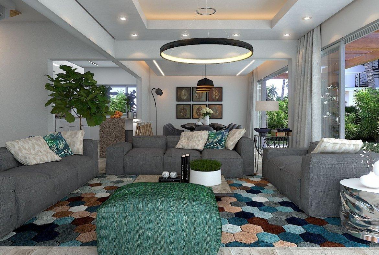 Blue Bay Villas & Lots - Sala principal - lámpara