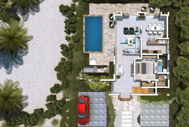 Blue Bay Villas & Lots - pationtracero - piscina - comedor - área de barbecue -, baño y jacuzzi